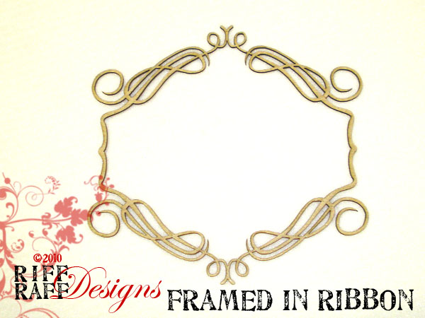 Framed in ribbon