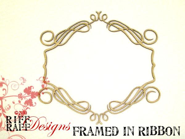 Framed in ribbon